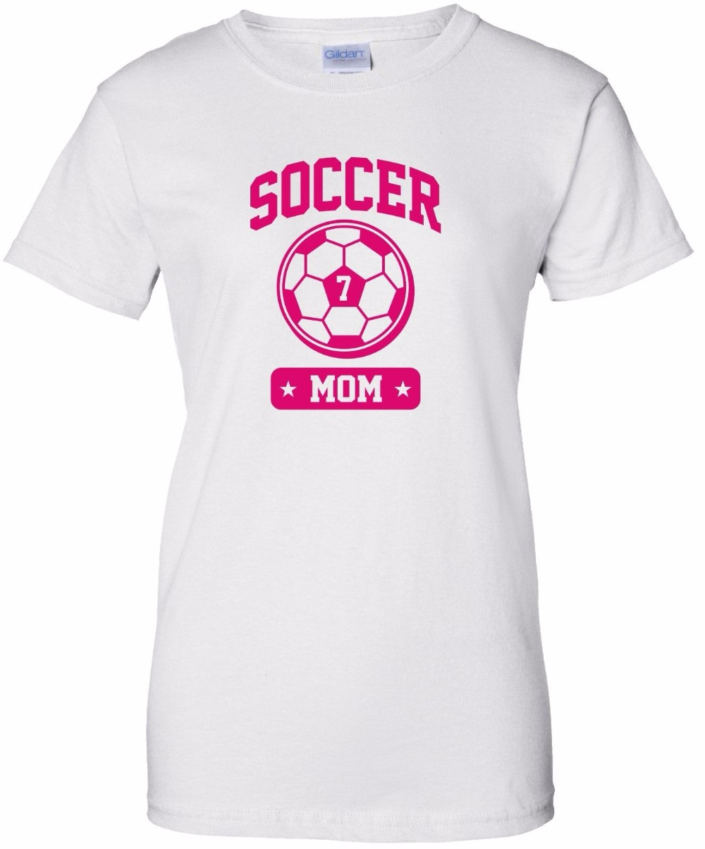 Design t shirt soccer - 2017 Designs Women S T Shirt Brand Clothing Summer Hip Hop Fitness Personalized Soccers Mom Cotton Tops Tees