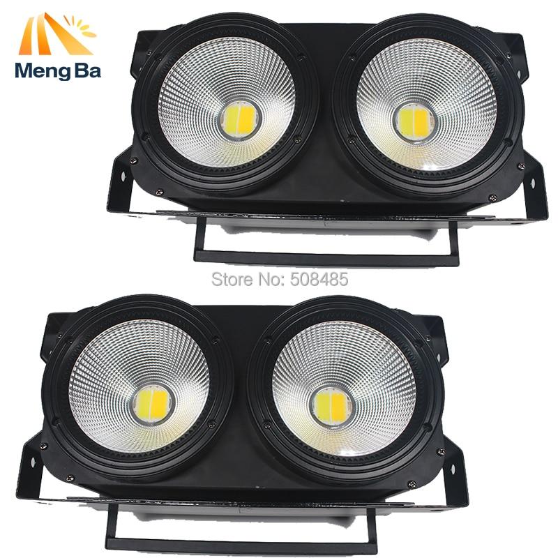 2pcs/lot 2*100w LED COB Blinder Light 2 Eyes Stage Led Audience Light for Stage 2units 100w 2 led cob blinder audience light