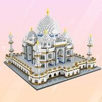 3950 Pcs Beautiful Indian Taj Mahal Building Block Assembled Toy Building Model Nanoblock Famous Architecture Standard