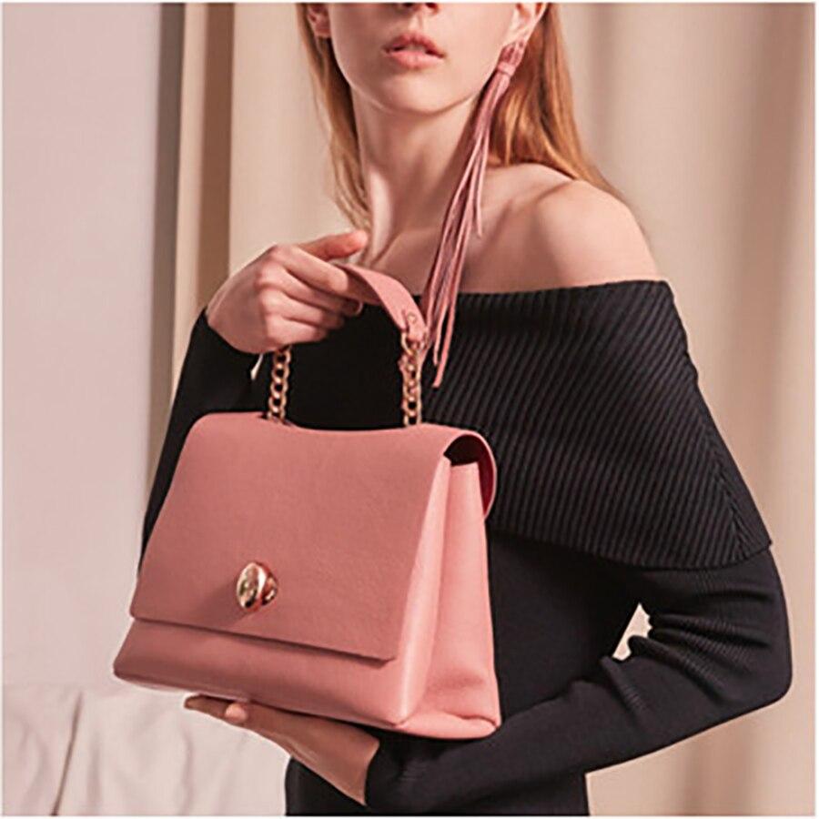 Doctor-Bag Flip-Handbag Messenger-Bags Business Large-Capacity Designer Women Solid