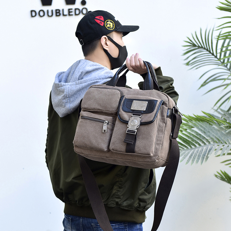 MANJIANGHONG Canvas Shoulder Bags Vintage Messenger Casual