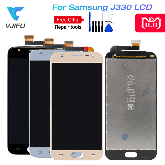 5pcs J3 2017 LCD For Samsung Galaxy J3 pro 2017 J330 J330F Phone LCD Display Touch Screen Digitizer Assembly With Brightness