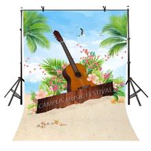 5x7ft Music Festival Backdrop Summer Style Campus Photography Background and Studio Props
