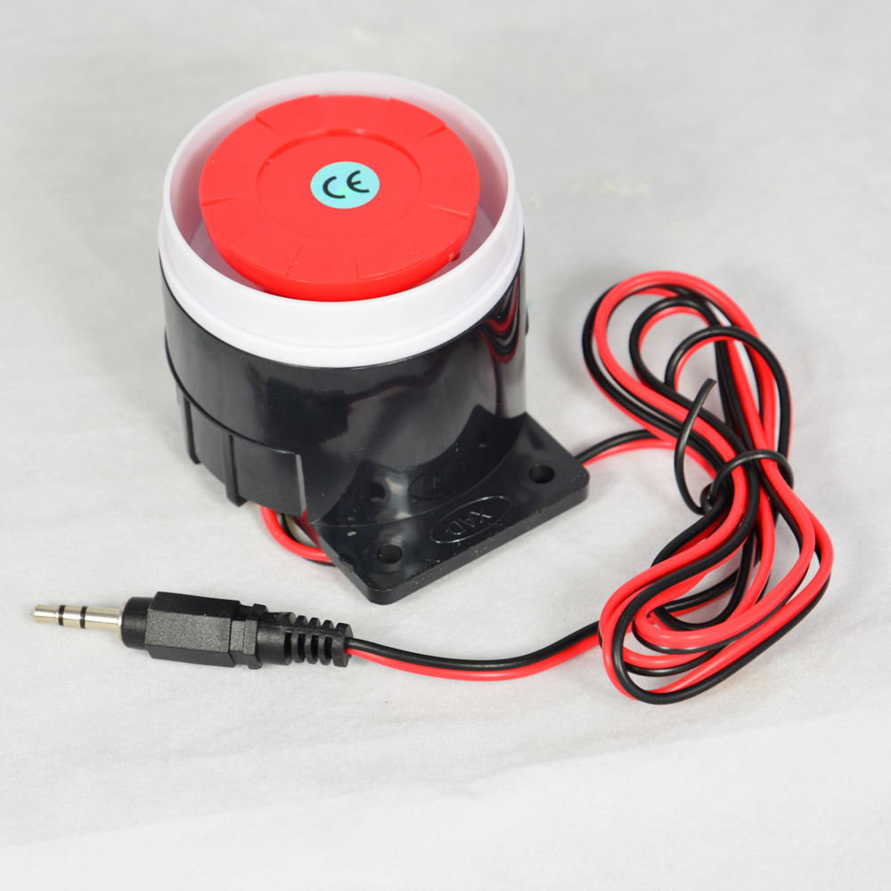 4 PCS Wired Alarm Siren Horn 120db Indoor For Home Security Alarm System GSM alarm with 3.5mm Plug Connector buzzer alarm 120db loud security alarm siren horn speaker buzzer black red dc 6 16v page 4