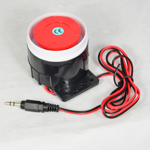 4 PCS Wired Alarm Siren Horn 120db Indoor For Home Security Alarm System GSM alarm with 3.5mm Plug Connector buzzer alarm