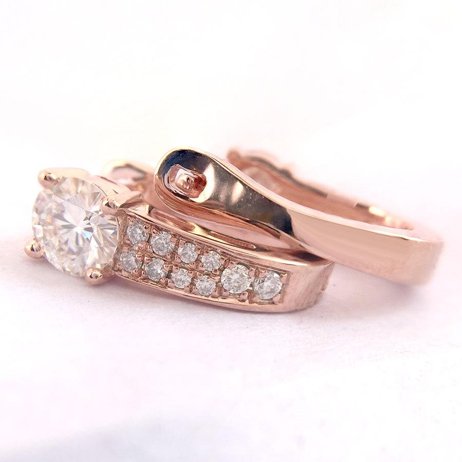 14 K oro amarillo y plata DEF Moissanite Stud Earring blanco y negro Moissanite 1CTW 5mm compromiso boda para las mujeres-in Pendientes from Joyería y accesorios    1