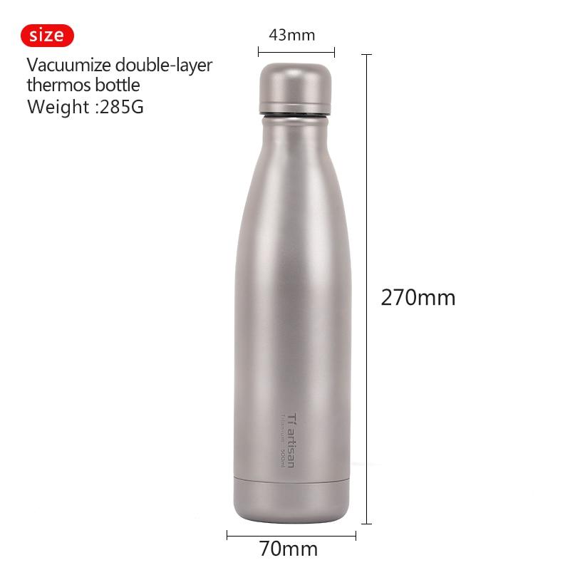 e garrafa de titanio revestimento ta8395 04