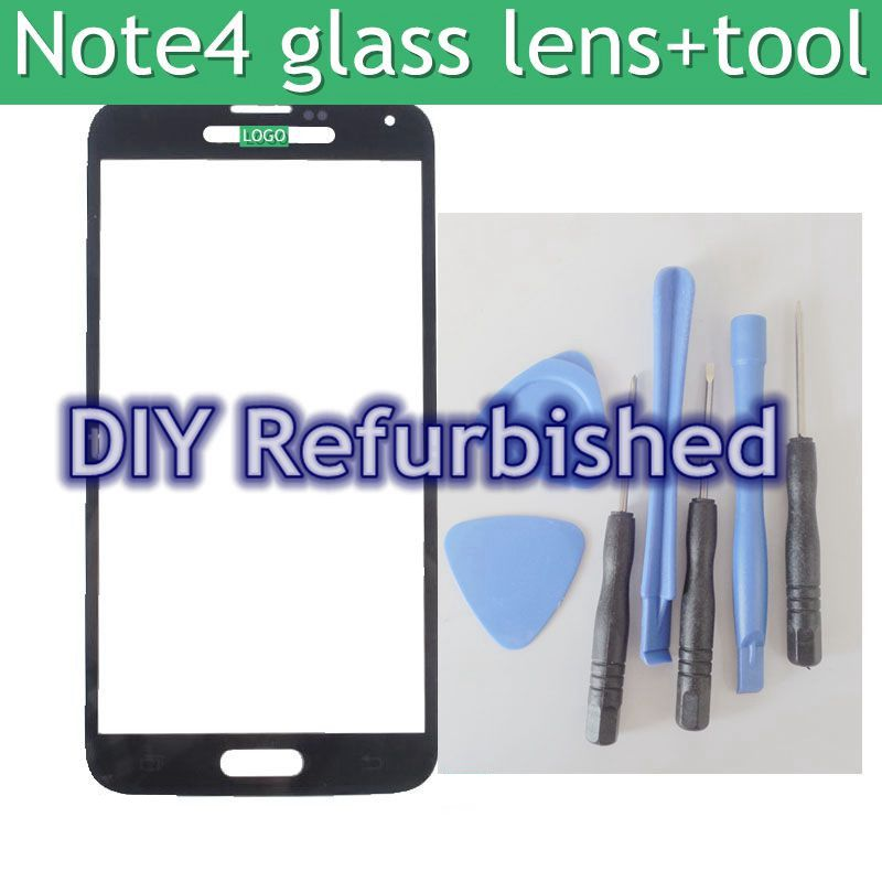 NEW For Samsung Galaxy Note 4 Front Glass Repair Parts Replacement for Samsung Galaxy Note 4 front cover+7 in 1 opening tools
