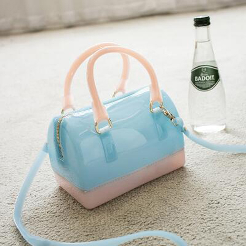 цена на Casual Women Silicone Summer Sweet Handbags Tote Bag Girls Pouch Bolsas Famous Ladies Jelly Crossbody Shoulder Beach Bags Bolsa