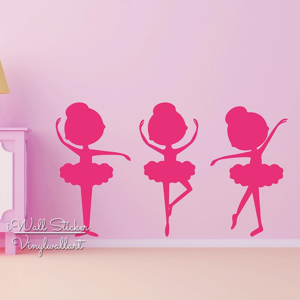 Aliexpress.com : Buy Ballet Girls Wall Sticker Baby ...
