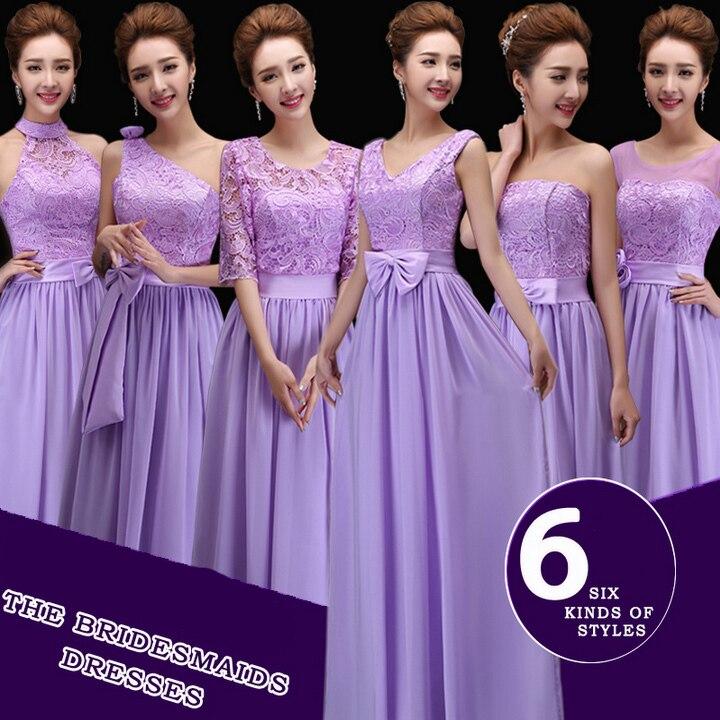 Excepcional Lavender Long Bridesmaid Dresses Ideas - Vestido de ...