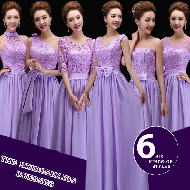 Popular Bridesmaid Dresses with Sleeves Lavender-Buy Cheap ...