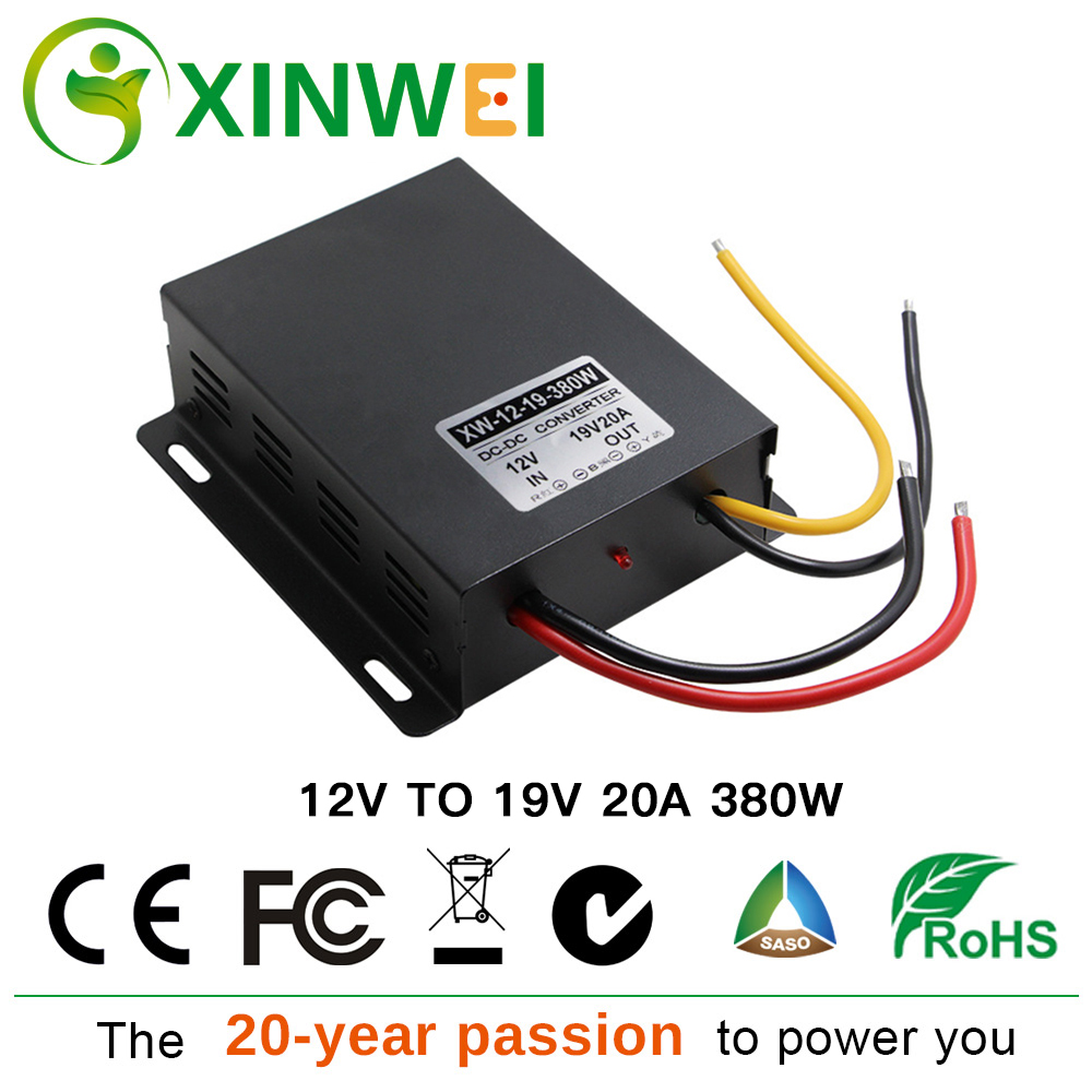 XINWEI DC 12V To DC 19V 20A 380W Step Up Power Converter Boost Large iron shell Transformers Not waterproof Non-isolated BUCKXINWEI DC 12V To DC 19V 20A 380W Step Up Power Converter Boost Large iron shell Transformers Not waterproof Non-isolated BUCK