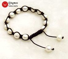 Qingmos Модные женские браслеты с натуральным жемчугом 9 10