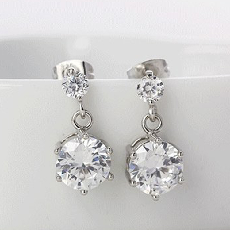 Star Shaped Woman Earrings Silver Plated Charming Jewelery Accessories