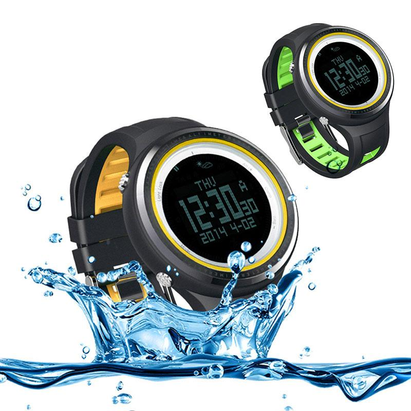 SUNROAD Watches Men Outdoor Sports EL Backlit Digital Watch 50m Waterproof FR800NB Compass Pedometer Barometer Thermometer