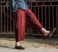 2016 Spring Fall Loose Wide Leg Pants Capris Pants Casual Cropped Trousers Calf Length Ankle Length Plus Size Female harem pant