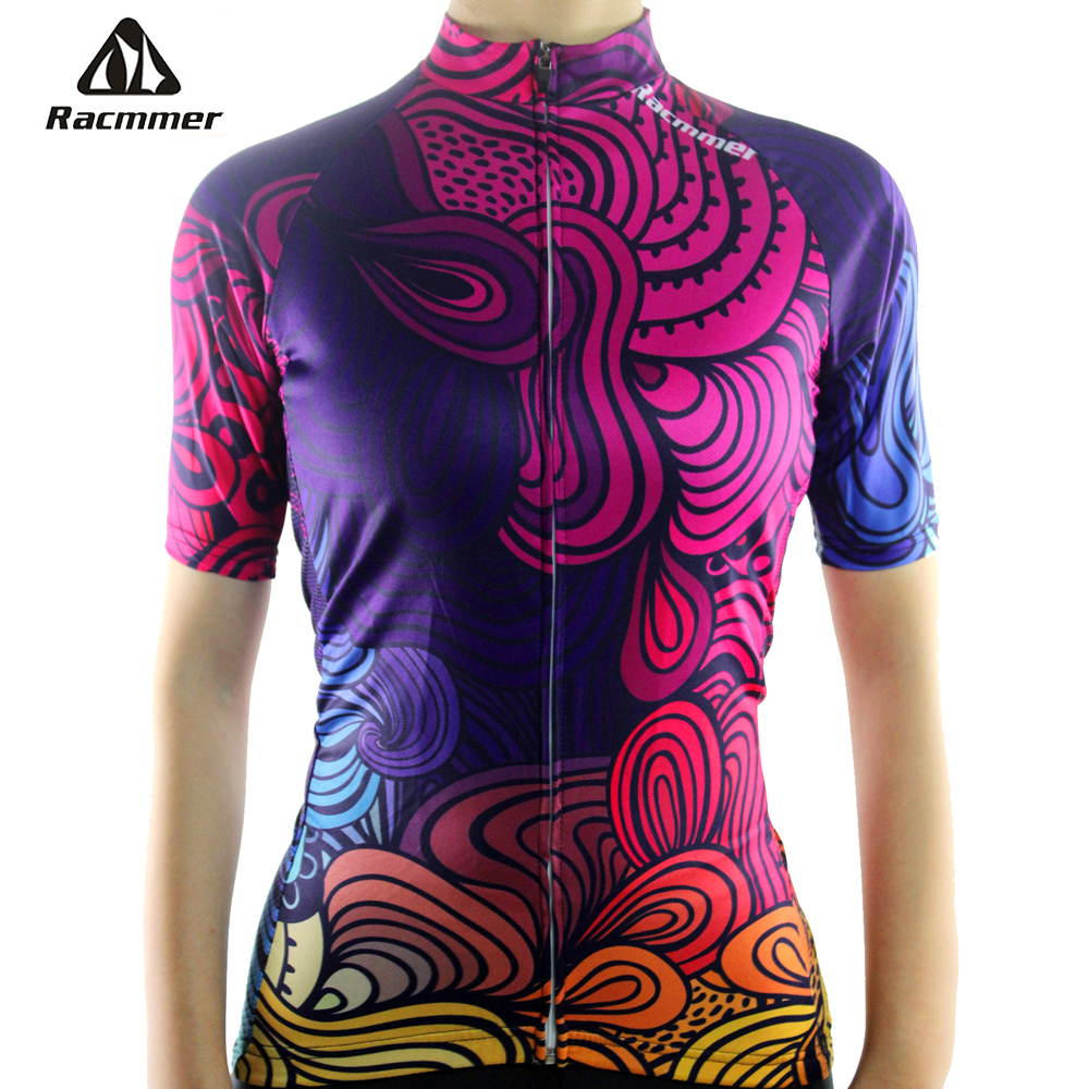 цена на Racmmer 2018 Breathable Cycling Jersey Women Summer Mtb Cycling Clothing Bicycle Short Maillot Ciclismo Bike Clothes #NS-05