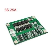 3 S 25A Li-Ion 18650 BMS PCM batterie schutz bord bms pcm mit balance für li-ion lipo batterie zelle pack