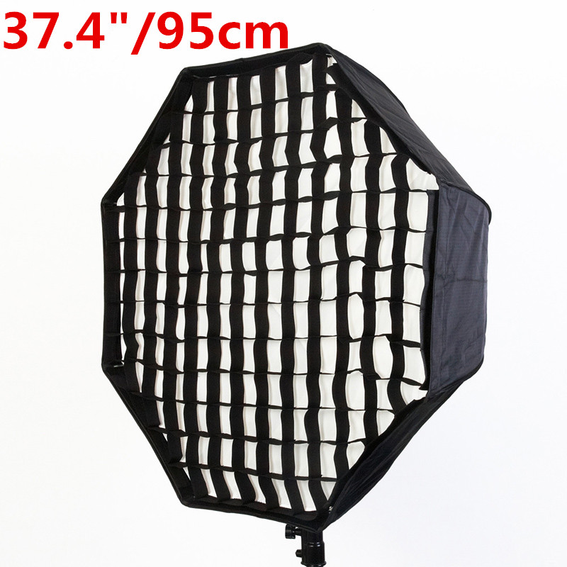 Photo Studio 95cm/37.4  Octagon Umbrella Softbox Diffuser Reflector + Gird for Speedlite Flash Photography Soft Box Light Box