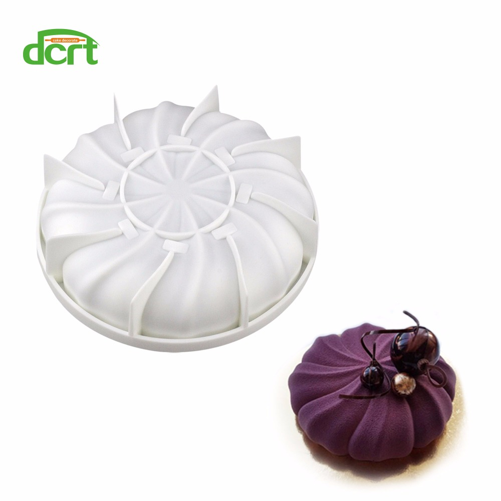 3D Pumpkin Shaped Silicone Molds for Cake Decorations DIY Mousse Ice Creams Chocolates Breads Cake Mold Bakeware image