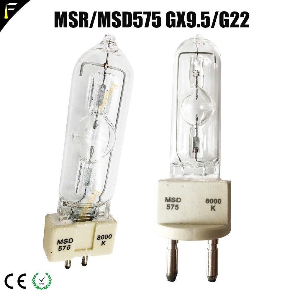 Işıklar ve Aydınlatma'ten Sahne Aydınlatması Efekti'de Uyumlu lamba ampulü MSR 575 saat G22 sıcak Restrike yetenekli 575 W/SEL/NSK 575HR metal Halide hareketli ışık title=