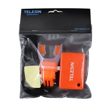 TELESIN Surfing Shoot Camera Mouth Mount + Floaty Float Lanyard Strap for GoPro SJCAM Xiaomi YI 4K Camera Swimming Skiing Diving