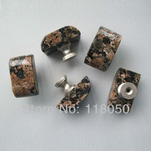 Baltic Brown Granite Drawer Knob Free Shipping,8pcs Hand Shaped Cabinet  Door Knobs,Novelty