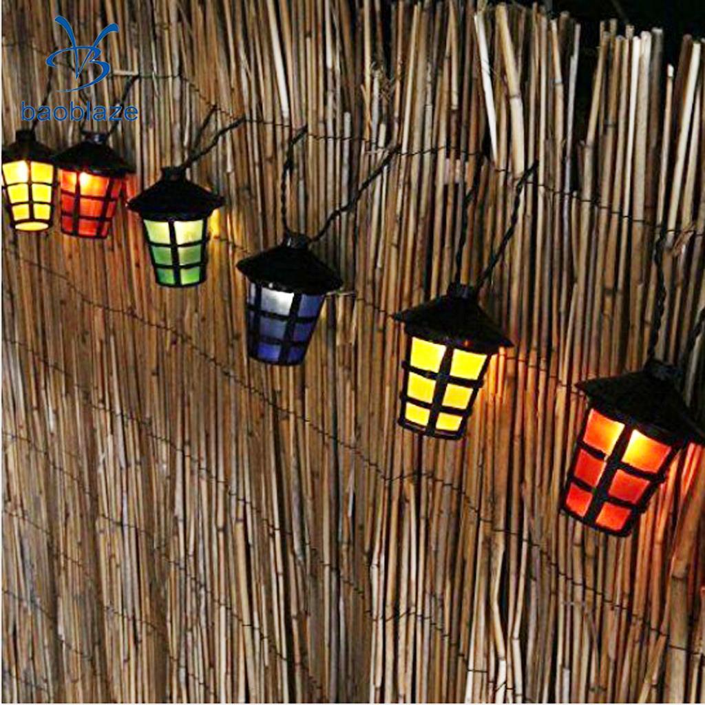 10 LED Красочный Фея свет шнура Главная Garden Party Декор Освещение теплый белый-Фонари ...
