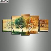 Hot 4 Season Tree Oil Painting 5pcs Set Diamond Painting Art Diamond Embroidery Wall Decor Art