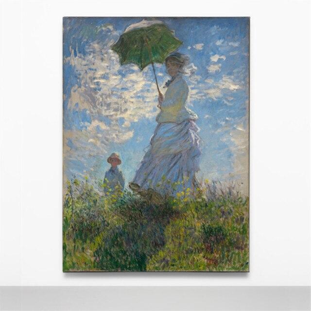 Decoración Lienzo Pintura Abstracta Sin Marco Claude Monet El Paseo ...