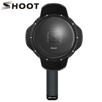 SHOOT Underwater Dome Port for GoPro Hero 7 6 5 Black with Float Grip Waterproof Case Sunshade Lens Dome Go Pro 6 5 7