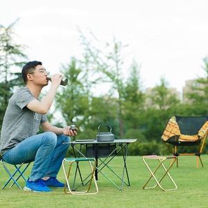 Image 5 - 7075 Al silla plegable portátil asiento de playa ligero 280g oso 100kg pesca Al aire libre muebles vocacion Casual Camping pesca