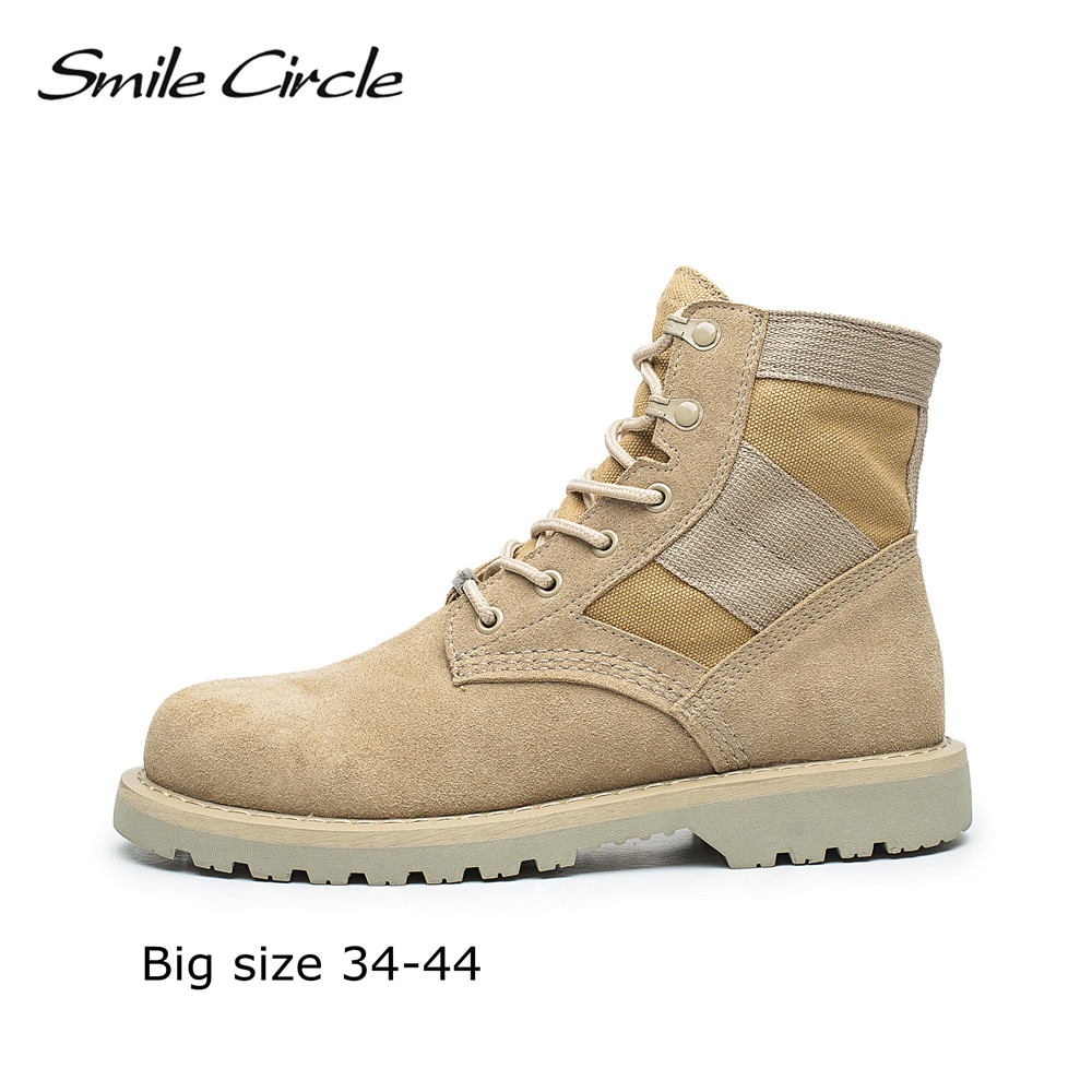 Big Size 34-44 Autumn Winter Boots Women Genuine Leather Martin boots high-top shoes Warm plush motocross boots combat military outdoor sport women high top running shoes genuine leather running boots sneakers women plus big size