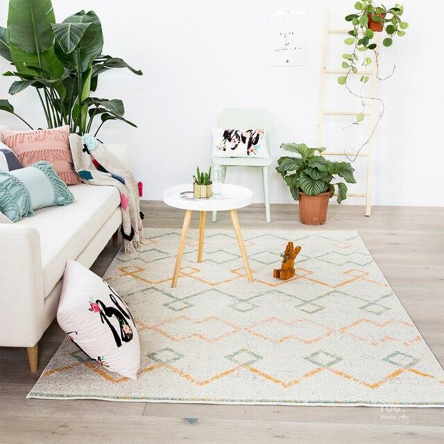 Kelim Teppich geometrische Böhmen Indian Weiß Teppich plaid striped Moderne zeitgenössische design Nordischen stil in Kelim Teppich geometrische ...