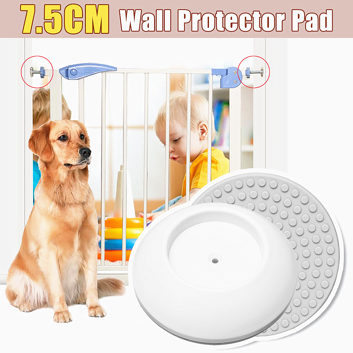 2Pcs Indoor Wall Protector Pad For Children Fence Safety Barrier Pet Partition