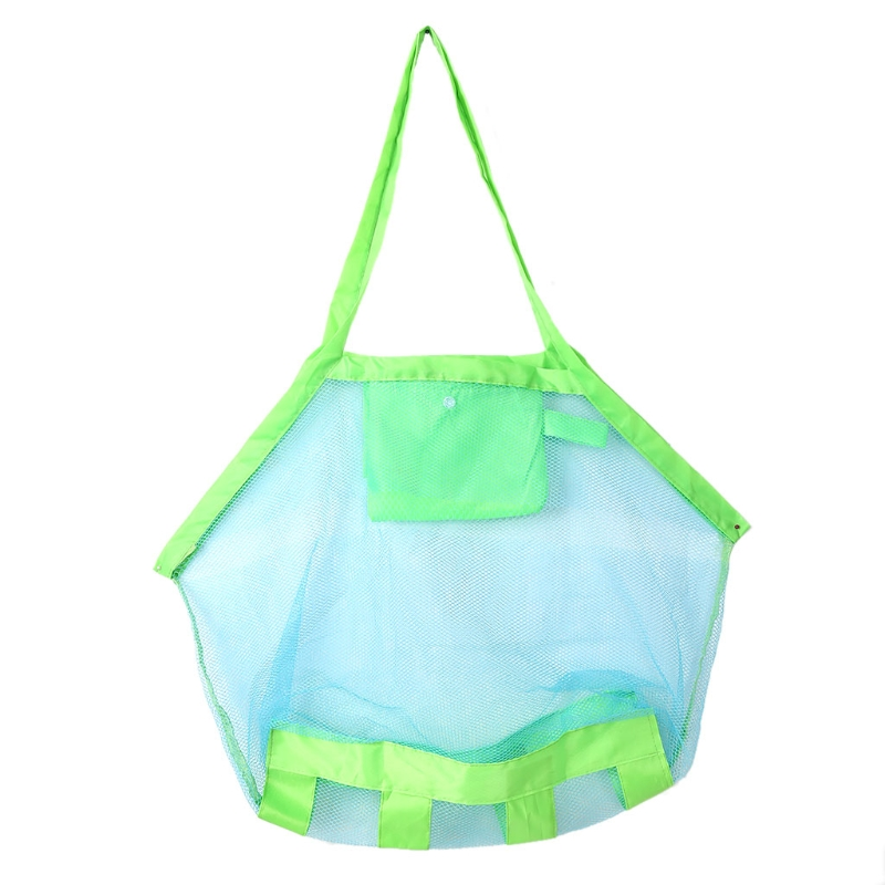 Outdoor New Children Storage Bag Kids Folding Sand Away Net Tote Beach Mesh Toys
