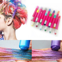 Women Hair Accessories 12 Hair Chalk Temporary Hair Dye Colour Kit Pastels Colours Salon Kit Non