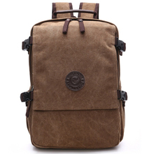 Men Canvas Backpack Fashion College Student Bag For Teenagers Male Laptop Mochila Casual Travel Rucksacks Women Back Pack Bolsos