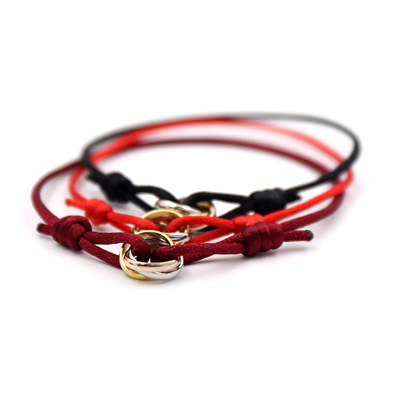 316L Stainless Steel mix three color carter love bracelets&bangles rope h bracelets for women men couple fashion bijoux pulseira