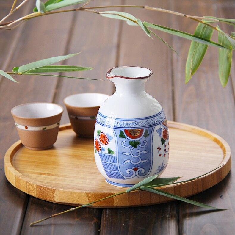 Le japon a importé la nouveauté flacon de hanche pour l'alcool classique en céramique Mini bouteille de vin en porcelaine 300 ML Style créatif Zakka
