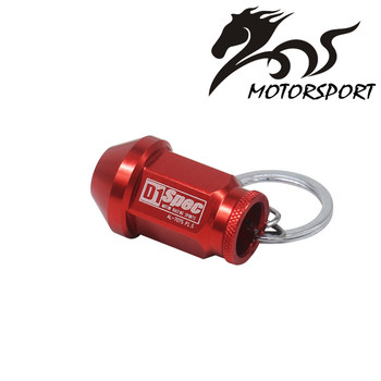 D1 SPEC Key chain JDM RACING 40MM WHEEL LUG NUT Auto Car King Rings styling Car-covers Accessories Alloys Key Ring image