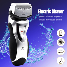 Kemei Men's cordless rechargeable reciprocating double blades electric shaver razor trimmer floating heads hot sale face care