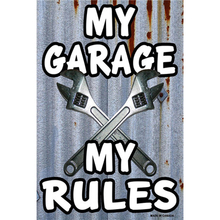 My Garage Rules Metal Sign Bar Wall Decoration Tin Vintage Poster Home Decor Painting Plaques 1001(676)