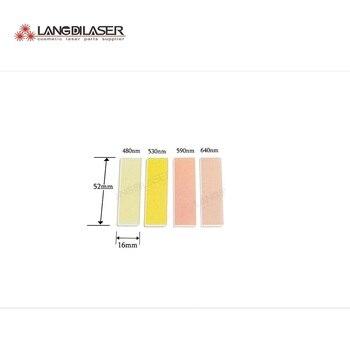 Filtros IPL para pieza manual IPL, tamaño 52*16*1mm, filtros ópticos, filtros óptica láser