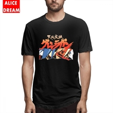 Gurren Lagann T shirt Japan anime Torn Open Tee Male New Custom T Shirt Cotton S-6XL Big Size T-shirt Casual Round Neck Tees стоимость