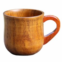 Novelty Wooden Mugs With Handle For Coffee Milk Tea Cup Large Insulated Caneca Beer Juice Tumbler For Home Creative Gift Cups