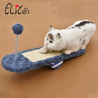 Pet Cat Toy Cat Scratcher Catnip Lounge Handmade Kitten Scratching Post Interactive Toy Training catwalk seesaw toy sisal