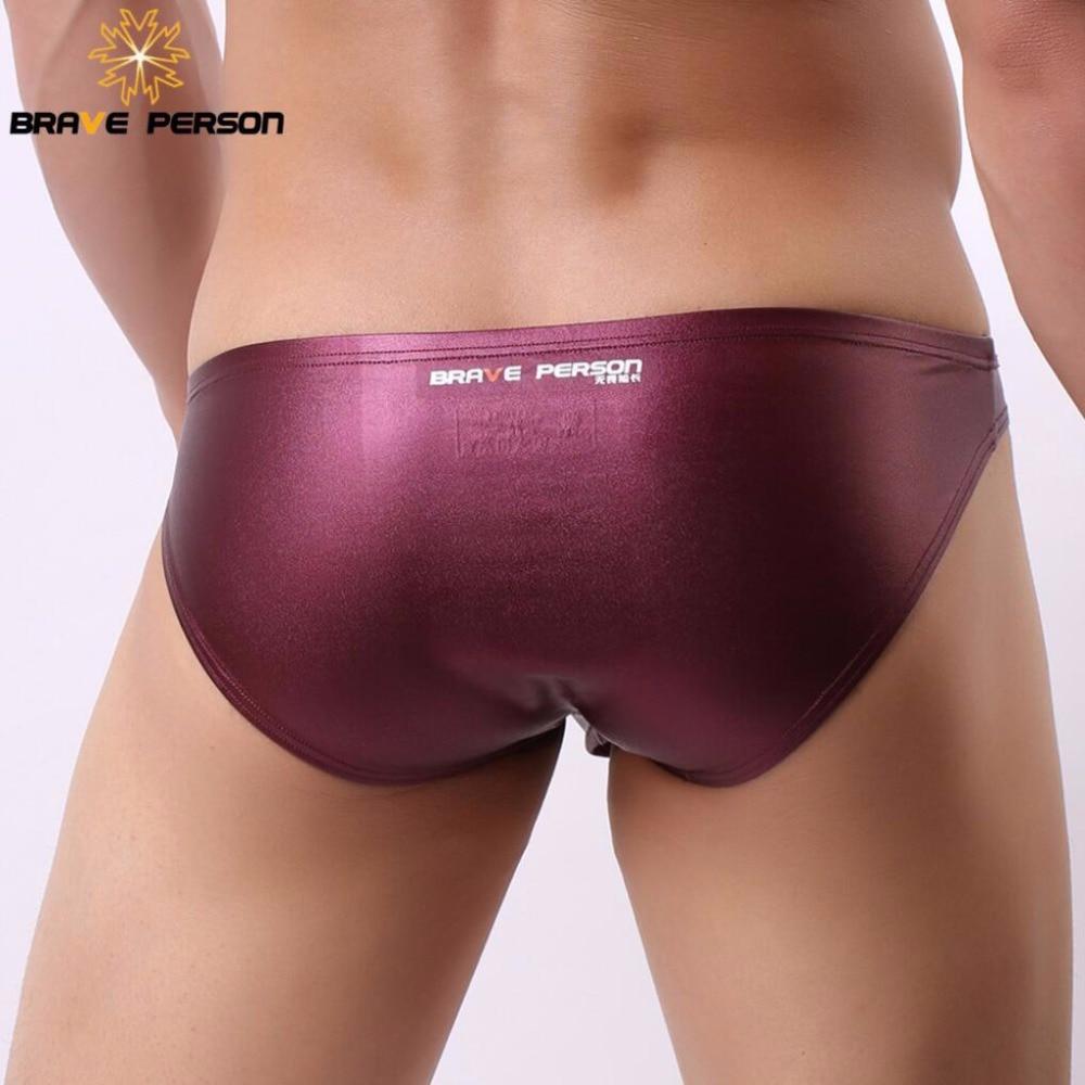 BRAVE PERSON Erotic Underwear Men Briefs Sexy Underwear Low-waist Men's Underpants Briefs Shorts Bright Fabric 2018 New Arrivals