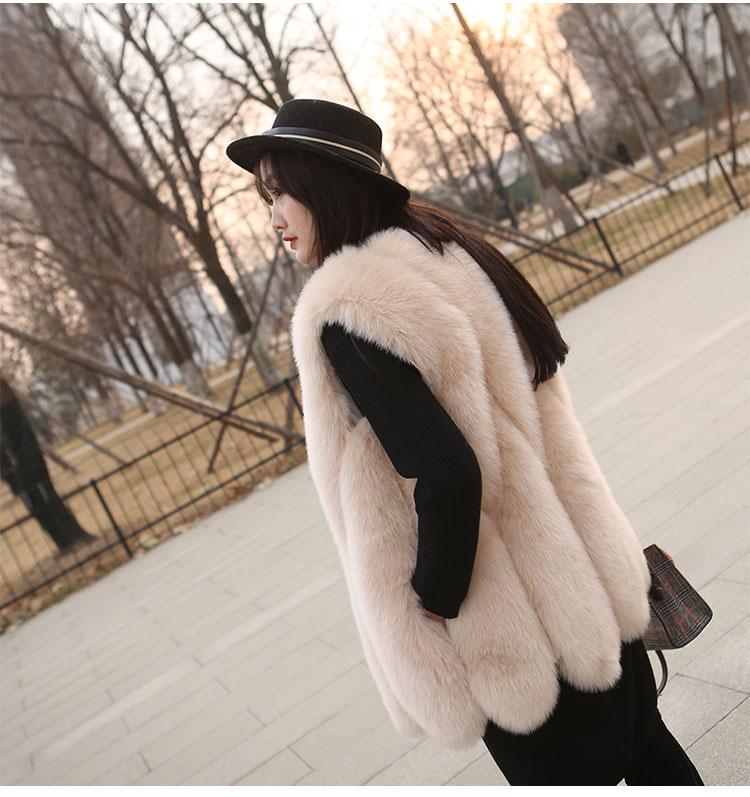 UPPIN шуба меховая жилетка элегантный Teardrop юбка подол шубы Осенне-зимняя Дамская обувь из искусственного меха жилет Мода Тонкий Девушки жилет Меховая куртка дубленка куртка женская шуба натуральный мех шуба - Цвет: apricot